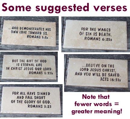 NAMESTONES COM- scriptures Bible scriptures in stone carved in stone